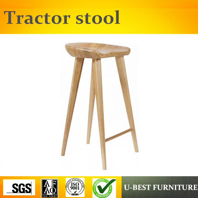 Free Shipping U-BEST Solid Ash Wood Craig Bassam Tractor Stool For Bassam Fellows,designer Modern Bar Chair