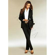 Jacket Pants Black Women Business Suits Formal Ladies Elegant Pant Suits Office Uniform Styles Female Trouser Suit Custom Made