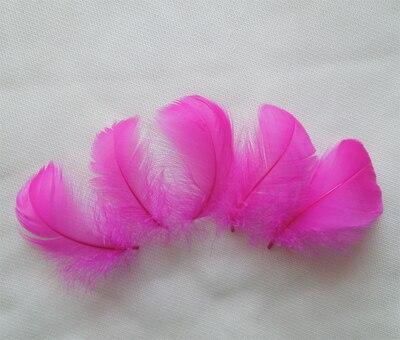 Горячая распродажа! 100 шт./партия, 4-6 см, маленькие окрашенные цвета, гусиные перья для изготовления шляп и аксессуары для волос, изготовление ювелирных изделий, 13 цветов - Цвет: rose