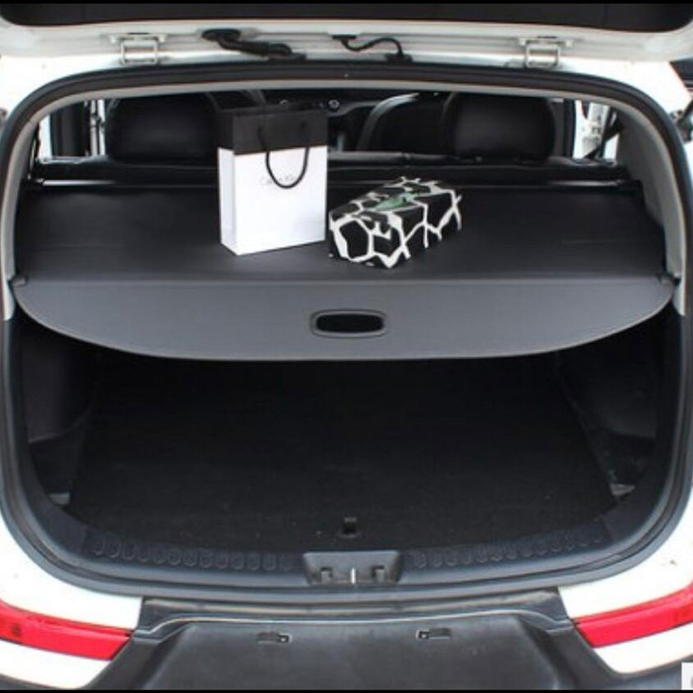 BBQ@FUKA Black High Quality Rear Trunk Cargo Privacy Cover Interior Accessories For Kia Sportage 2016-2017 car rear trunk security shield cargo cover for honda fit jazz 2008 09 10 11 2012 2013 high qualit black beige auto accessories