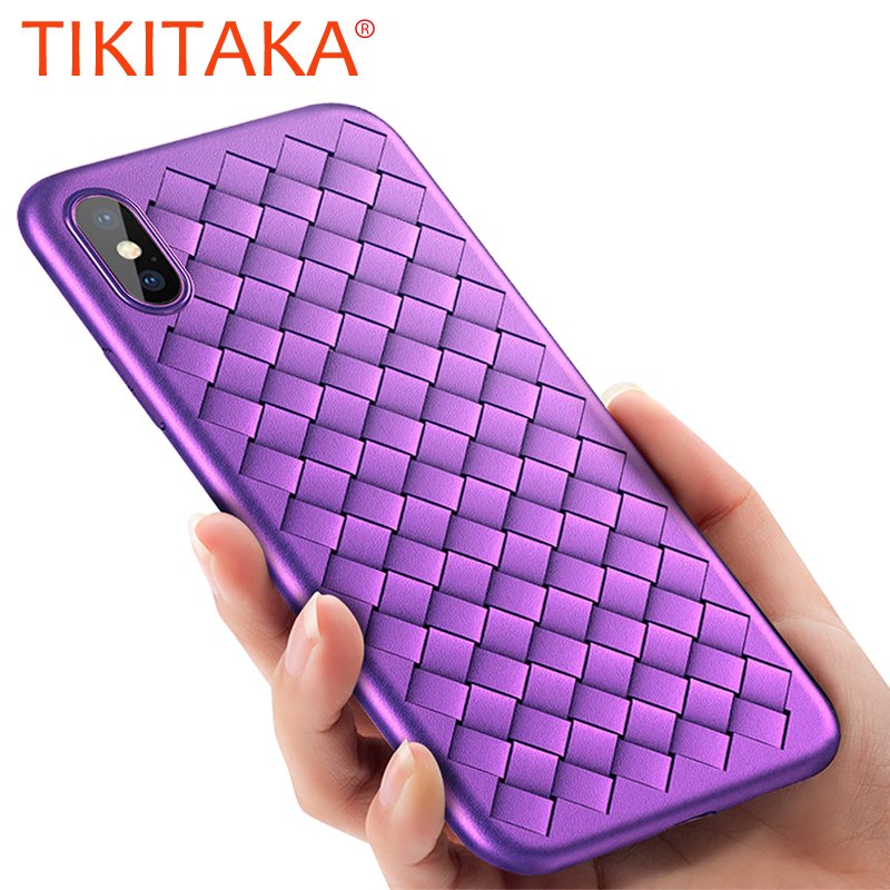Classic BV Weaving Grid Phone Cases For iPhone X 8 7 6 6S Plus Case font