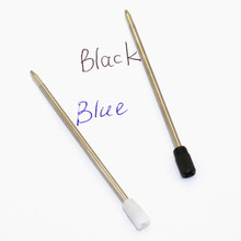 20 Pcs Refill 0.7mm Full Metal Core 7cm Short Blue And Black Ink Refill Replacement School Supplies Office Accessories