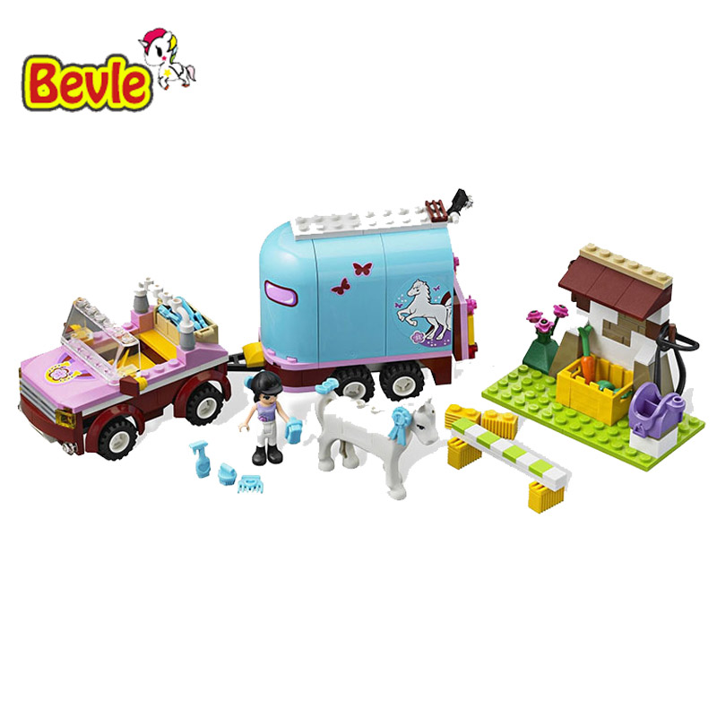 Bevle Bela 10161 Friends Horse Trainer Horse Ranch Toys Gift Building Block Toys Compatible with LEPIN lepin 22001 pirate ship imperial warships model building block briks toys gift 1717pcs compatible legoed 10210