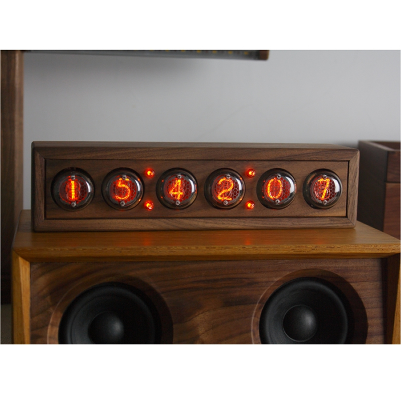 Image 4 - Glow digital electronic tube clock black walnut solid wood digital QS30 SZ8 digital tube DIY Retro with Remote controller-in Integrated Circuits from Electronic Components & Supplies