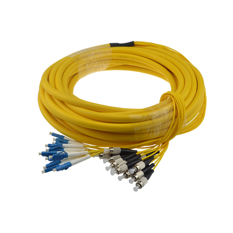 FC-LC UPC 12cores Single mode fiber optic patch cord cable FC-LC Indoor Fiber cable 2.0mm or 3.0mm FTTH fiber optic jumper