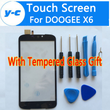 For DOOGEE X6 Touch Screen 100% New Digitizer Glass Panel Replacement For DOOGEE X6 5.5inch Mobile Phone-Free Shipping In Stock
