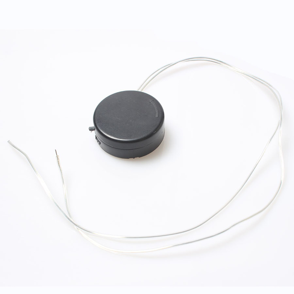 New Arrival 2 Pcs <font><b>CR2032</b></font> Black Button <font><b>Battery</b></font> <font><b>Holder</b></font> Box <font><b>With</b></font> ON/OFF Switch <font><b>Wire</b></font> Lead <font><b>Battery</b></font> Case Storage Boxes image