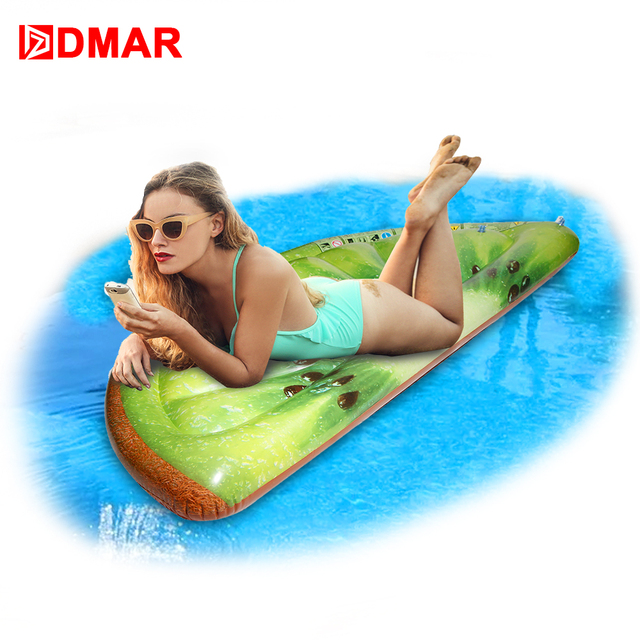 DMAR Inflatable Kiwi Pool Float Sea Mattress Toys Row Lounger Swimming Ring  Water Beach Party Sports