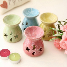 Big Discount! Classical Ceramic Oil Burners + candle aromatherapy furnace aroma stove home decor Air Clean quemador incienso