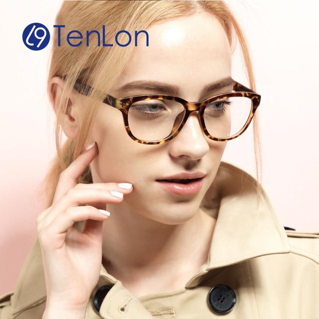 Women's Vintage Retro Classical Basic Eyeglasses Oculos De Grau Ultralight TR Frame glasses with clear lens reading glasses CL-7