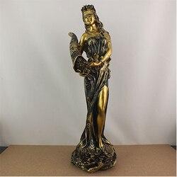 Göttin der glück, reichtum, skulptur, schönheit, charakter ornament, dekoration, kreative wohnzimmer statue, figur, abbildung