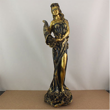 Goddess of fortune, wealth, sculpture, beauty, character ornament, decoration, creative living room statue, figurine, figure