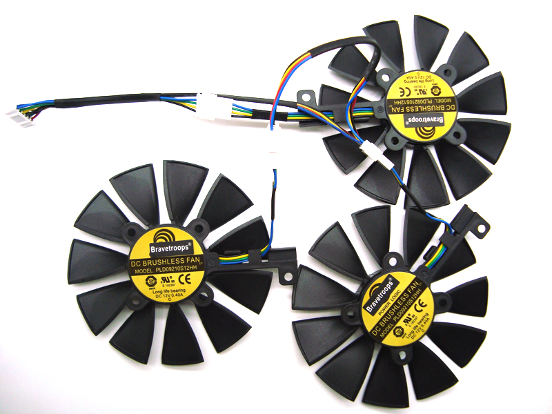 free shipping New 87MM PLD09210S12M PLD09210S12HH Cooling Fan For ASUS Strix GTX 1060 1070 1080 1080Ti RX 480 Graphics Card Fan image