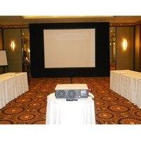Сзади проектор Экран 180 4 К Портативный Indoor/открытый фильм Театр быстро складывать проектор Экран с подставкой ноги HD формат 4:3