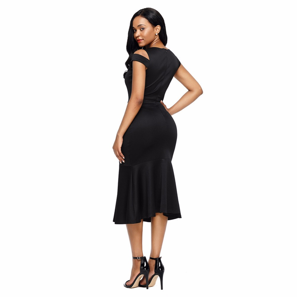 Egnmc Mermaid Trumpet Dress Y Skinny O Neck Off Shoulder Empire Short Sleeve Women Las S Dresses In From Clothing Accessories On