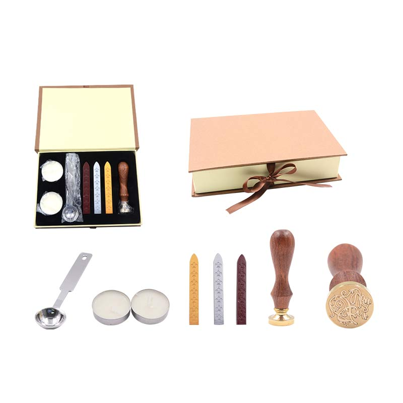 Classical seal Chinese style Fire lacquer Envelope sealing compound Gift box DIY Art tool gift set Include envelopes