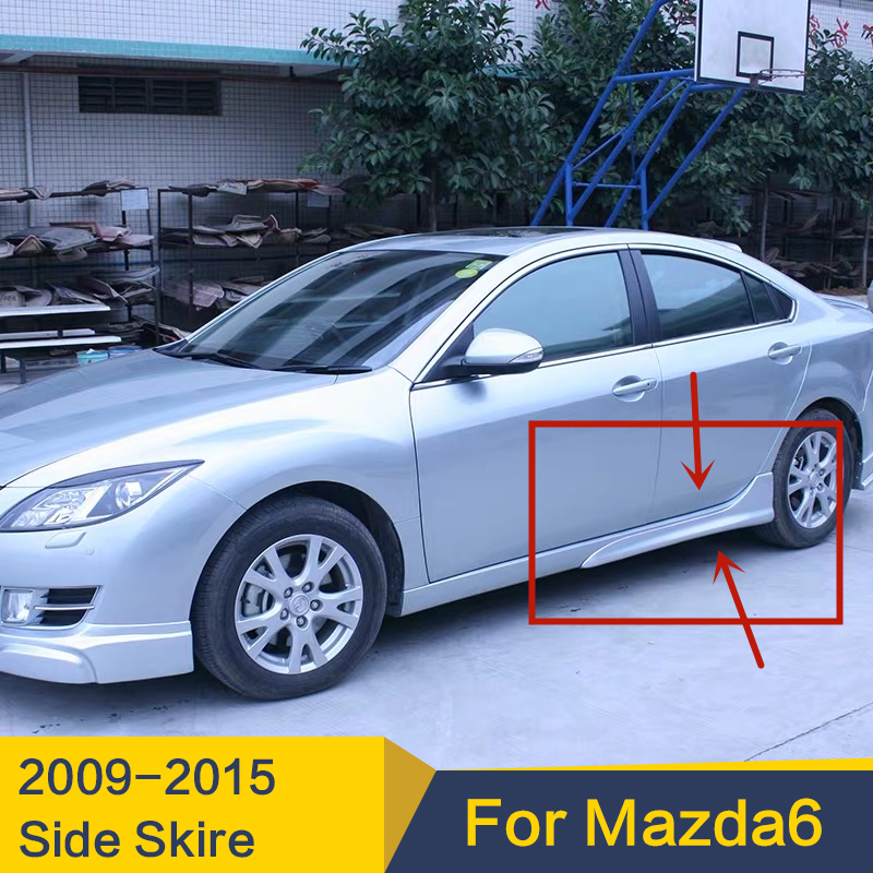 Use For Mazda 6 Side Skirts Case Door Sills Bumper Lips 2009--2015 Year PP Plastic Body Kit Spoiler Refitting Accessories