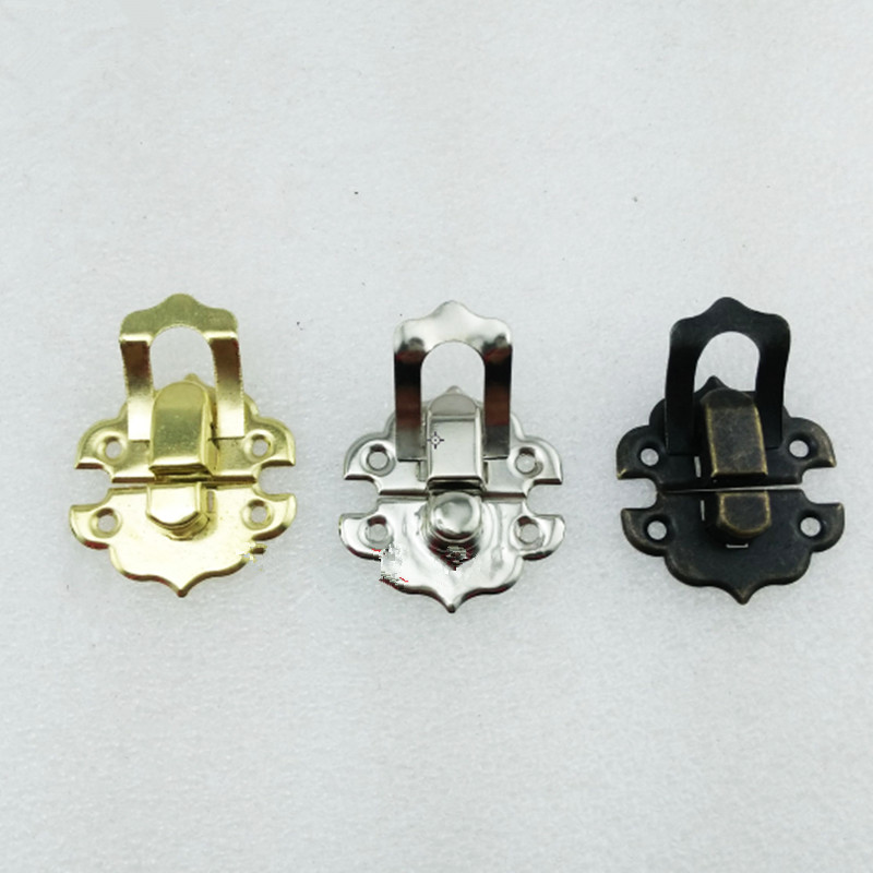 4Pcs 30*30mm,Antique Iron Jewelry Box Padlock Hasp Locked Wooden Wine Gift Box Handbag Buckle Hardware Accessories