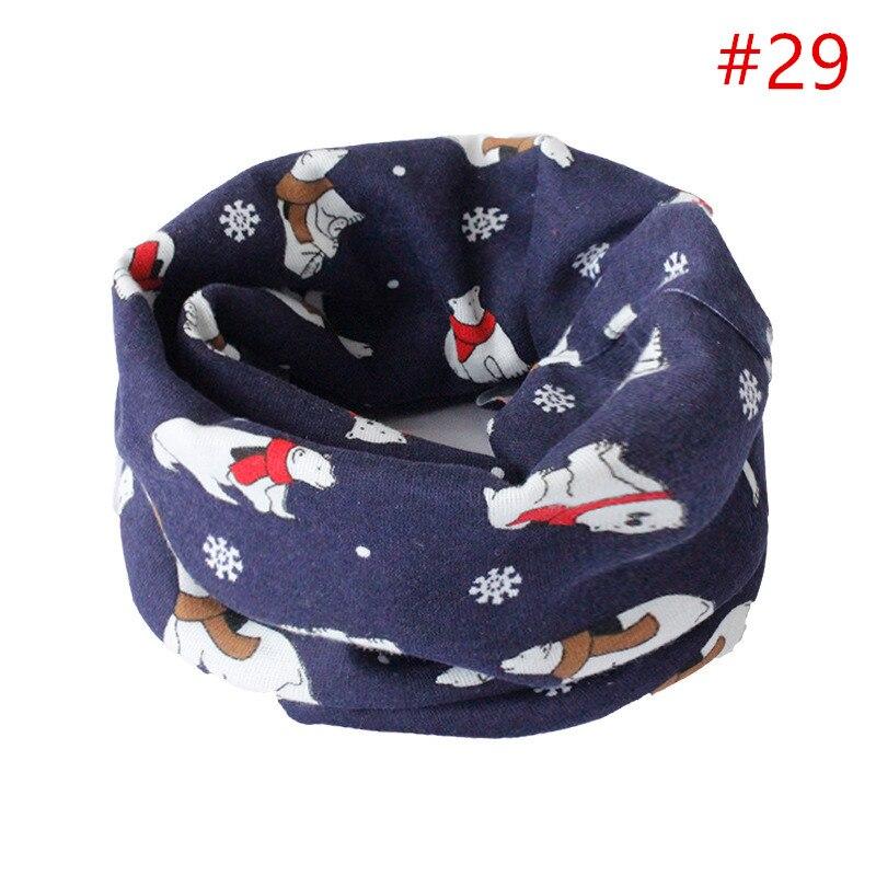 Детский хлопковый шейный шарф с милым принтом; детский теплый шарф; Детские воротники; осенне-зимний шарф-кольцо для мальчиков и девочек; аксессуары для детской одежды - Цвет: No.29