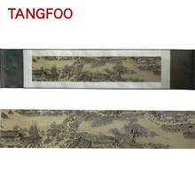 Silk scroll painting Chinese style vintage gift
