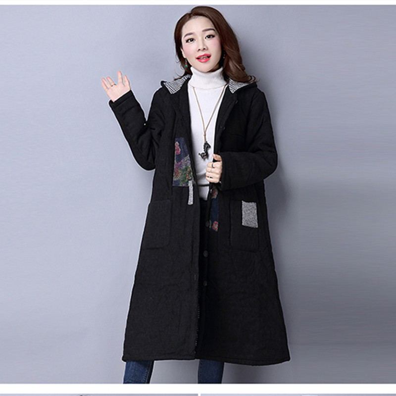 Autumn Winter Maternity Coat Parkas Korean Fashion Pregnant Women Cotton Trench Outerwear Long Coats Jacket for Pregnancy E665 цены онлайн