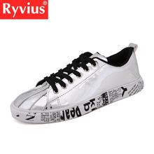 Ryviusp Brand 2018 Hot Sale Large Size 36-46 Men's And Women's Jogging Sports Shoes Pu Comfortable Breathable Shell Toe Sneakers