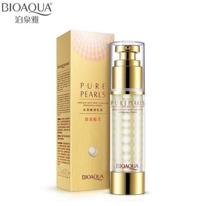 BIOAQUA Marca Pure Pearl Crema Facial Cuidado de la Piel Ácido Hialurónico Hidratante Profundo Anti Arrugas Cuidado de la Cara Crema Esencia Blanqueadora