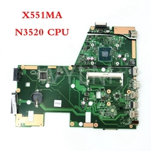 X551MA with N3520 CPU REV 2.0 mainboard For ASUS X551MA X551M Laptop motherboard MAIN BOARD 60NB0480-MB1500-206 free shipping