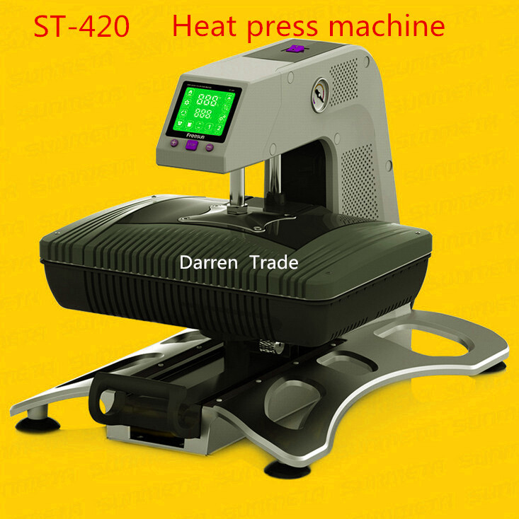 1pcs new multifunction 3d sublimation heat press machine ST-420 for phone case mugsT-shirt etc 1 pcs 38 38cm small heat press machine hp230a