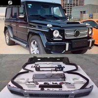 W463 G65 Car body kit PU Unpainted front bumper rear bumper Round eyebrows for Mercedes Benz W463 G63 AMG BRABUS style