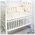 6 unids bebé lecho 100% algodón de parachoques juego de sábanas de invierno incluye almohada bumpers hoja juego de cama niño cuna