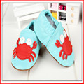 SDMOCCS Brand 27 styles retail Baby blue red crab Cow Leather Shoes Infant cute crab pattern Soft Sole Shoes 0-2T