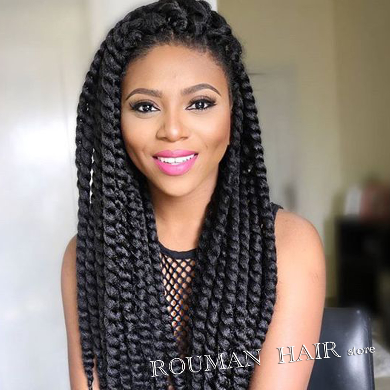 Crochet Braids Medium : Twist Crochet Braid Hair Extension 14 39 Medium Pre Braiding ...