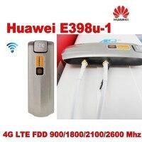 Открыл Huawei E398u 1 Cat3 100 Мбит/с 3G 4 г LTE FDD Z модем + Крытый новый 4 г LTE MIMO TS9 антенны 49dBi для Huawei E398