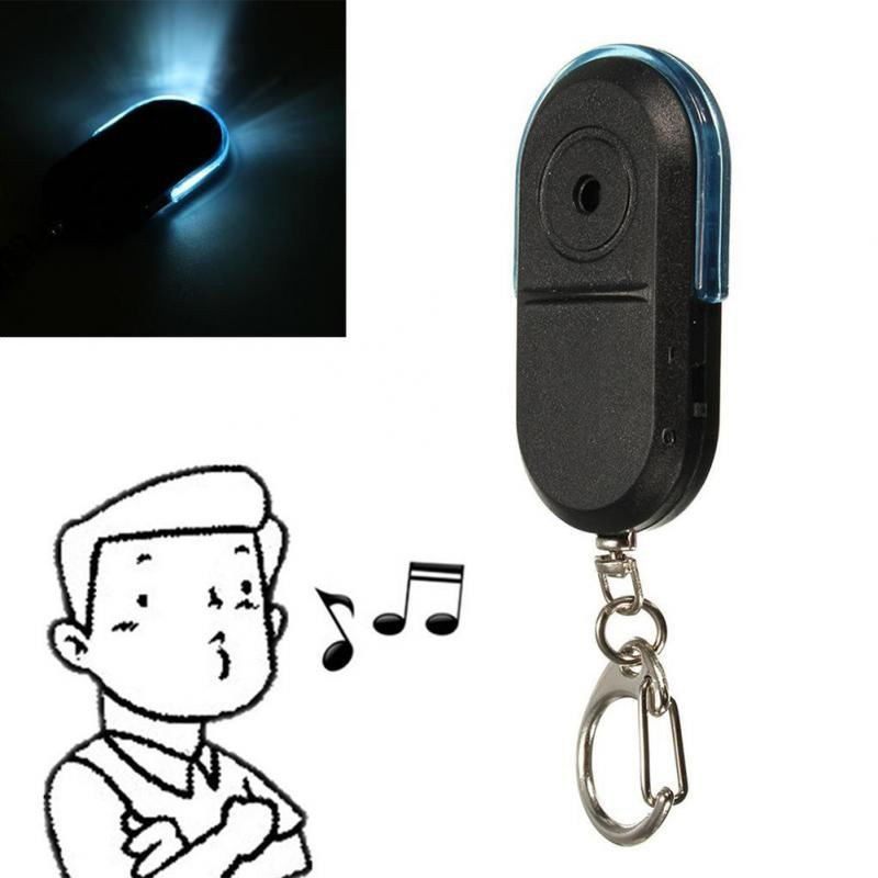 Newest Wireless Anti-Lost Alarm Key Finder Locator Keychain Whistle Sound LED Light Things Tracker Anti-Lost Device wireless remote control goods finder anti lost alarm device set 5 x cr2032 1 x 27a