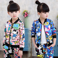 2016 New Winter Girls Clothing CARTOON DOG Pattern 2pcs Outfits Sport Suit Kids Girls Clothes Set Children Clothes