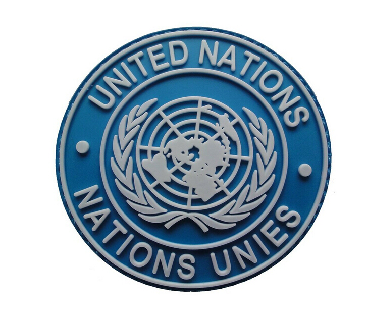3 MINI UN United Nations U.N Badge  3D TACTICAL ARMY MORALE PVC PATCH