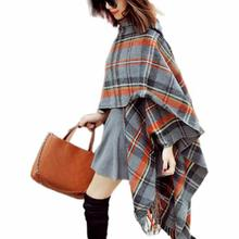 520 Modern Fashion Women s Large Tartan Scarf Shawl Stole Plaid Checked Wool Cotton With Fringe