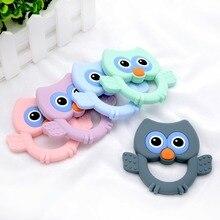 Happyfriends 1pcs Toddler Baby Teether Toys New Arrival Food Grade BPA Free Cute Cartoon Owl Nursing Teethers