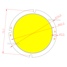 76mm Round LED COB Light Source 20W 30-33V DC High Lumen High Power Module chip on board for downlight 76mm round led cob light source 20w 30 33v dc high lumen high power module chip on board for downlight