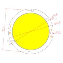 76mm Round LED COB Light Source 20W 30-33V DC High Lumen High Power Module chip on board for downlight все цены