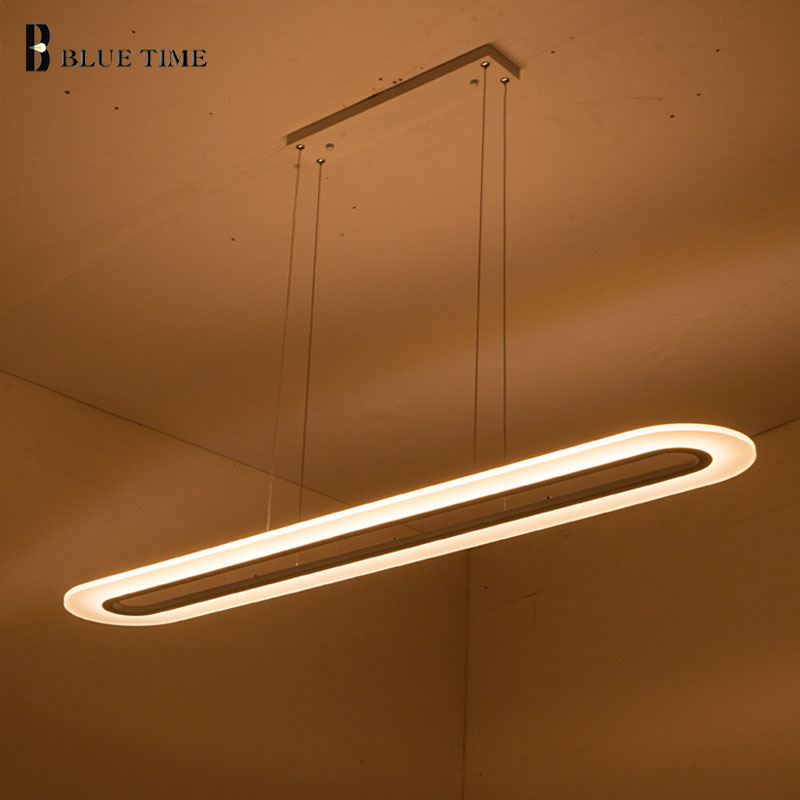 100CM 80CM Acrylic Modern LED Pendant Lights For Dining Room Living Room Lustre LED Pendant Lamp Home Lighting Fixture AC90-220V metal pendant lights avize luminaire e27 220v for decor home lighting pendant lamp lustre moderne living room dining lamp