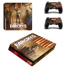 Vinyl Design Farcry 5 Skin Sticker PS4 Slim Stickers Kit for Sony Playstation 4 Console and Controller