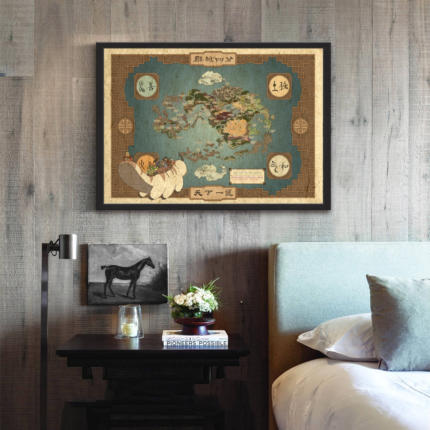 Avatar the Last Airbender World Map Movie Wall Art Paint Wall Decor ...