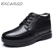 EXCARGO Round Toe Men Casual Shoes 2019 New Style Winter Sno