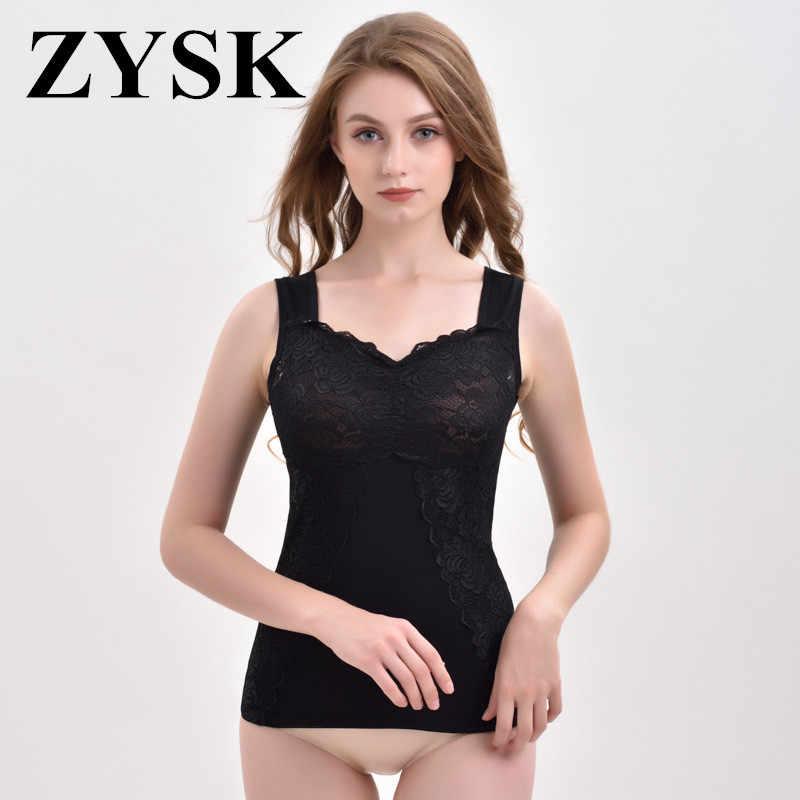 9ea2e6a572 ZYSK Hot Shaper Slim Up Lift Plus Size Bra Cami Tank Top Winter Thick Warm  Women