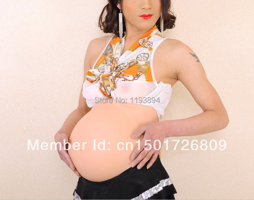 Silicone realistic fake pregnant belly pregnant above 6 months