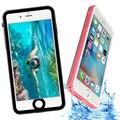 Magro transparente cubo de água ip68 subaquática à prova d' água de natação mergulho coque capa hard case para iphone 7 plus telefone capinha