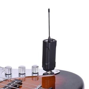 Image 5 - المحمولة اللاسلكية جهاز إرسال سمعي نظام استقبال ل الغيتار الكهربائي باس الكهربائية آلة الكمان الموسيقية