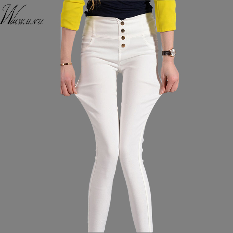 WMWMNU The New Spring And Summer 2017 Feet High Waisted Trousers Women Pencil Pants Leggings Korean Ladies Harem Pants